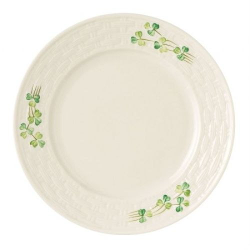 Belleek China Shamrock Side Plate
